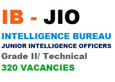Intelligence Bureau IB Junior Intelligence Officer Recruitment 2016